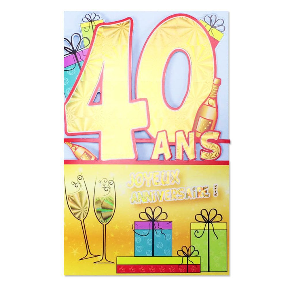 carte dinvitation anniversaire 40 ans humoristique gratuite imprimer 1 association joie de vivre. Black Bedroom Furniture Sets. Home Design Ideas